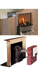 power flue assisted gas fire